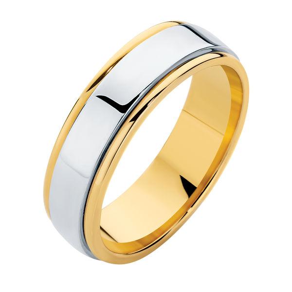Mens 18 carat gold wedding rings Larsen Jewellery