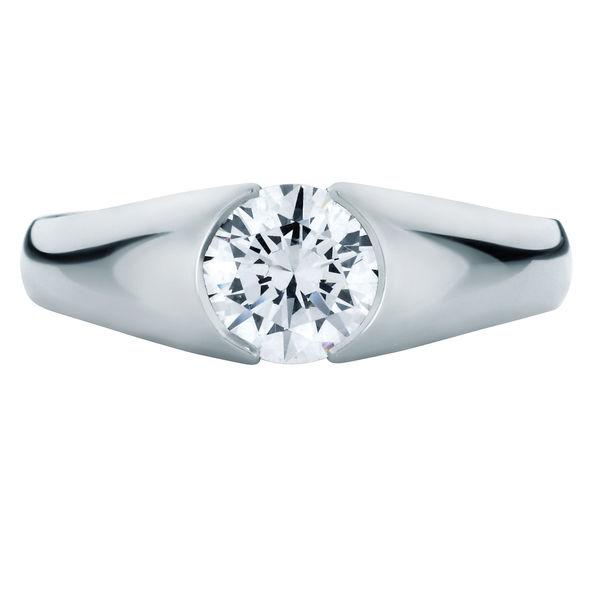 Waterlily Platinum Engagement Ring