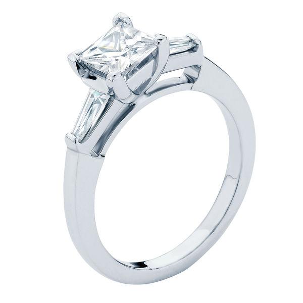Willow Princess Platinum Engagement Ring