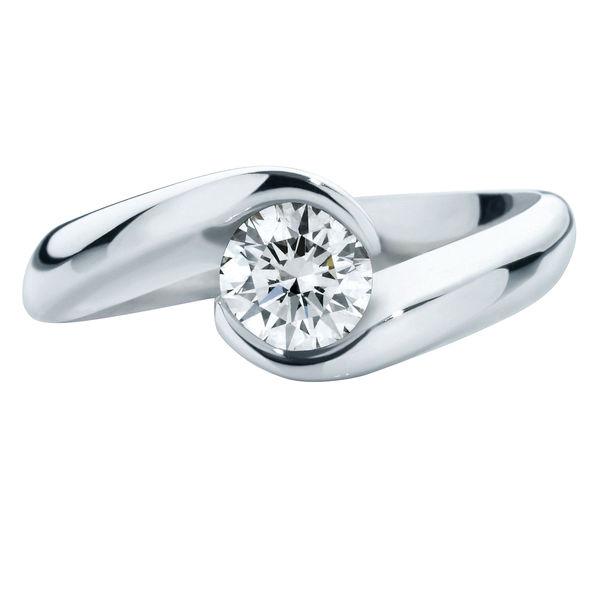 Zephyr Brilliant Platinum Engagement Ring