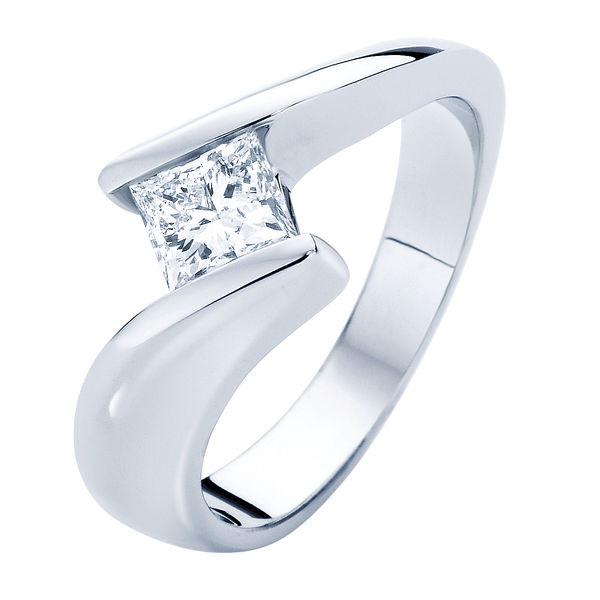Zephyr White Gold Engagement Ring