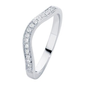 Curve White Gold Wedding Ring