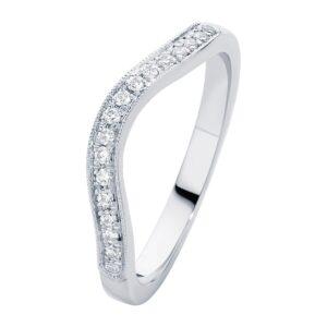 Curve White Gold Wedding Ring