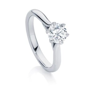 Pirouette engagement ring