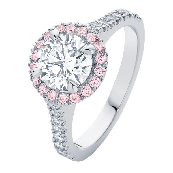 Rosetta Brilliant III White Gold Engagement Ring