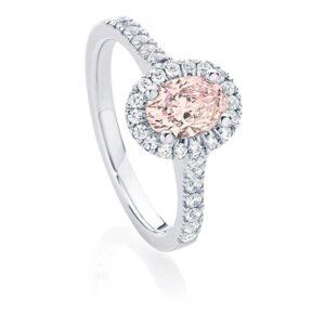 Rosetta Oval engagement ring
