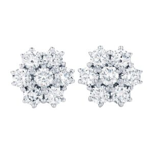 Susie Studs White Gold Earings