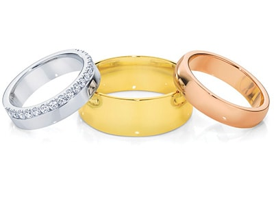 How to create his and her wedding rings that match without matching