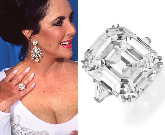 Rings Inspired by Elizabeth Taylor's Asscher Cut Diamond Ring