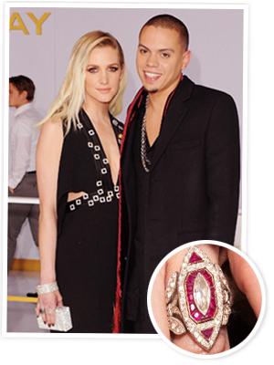 Ashlee Simpson engagement ring