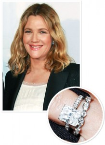 Drew Barrymore engagement ring