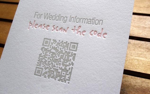 QR code wedding invite