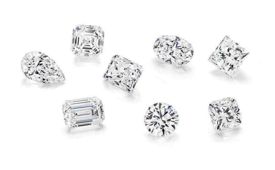 mix of diamond shapes
