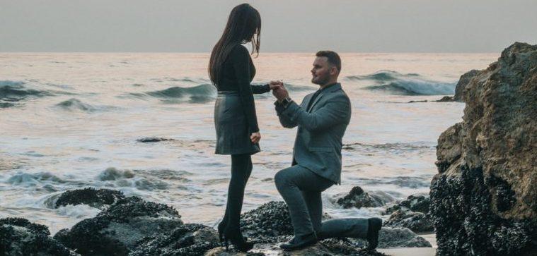 proposal on beach