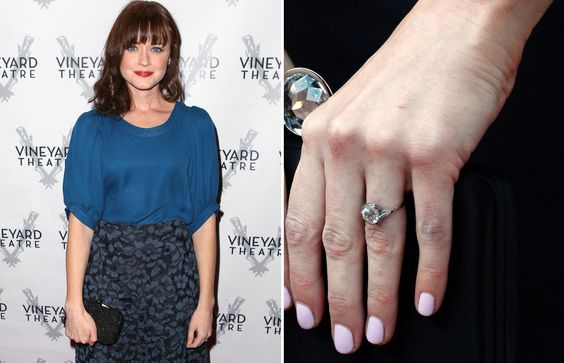 alexis bledel's engagement ring