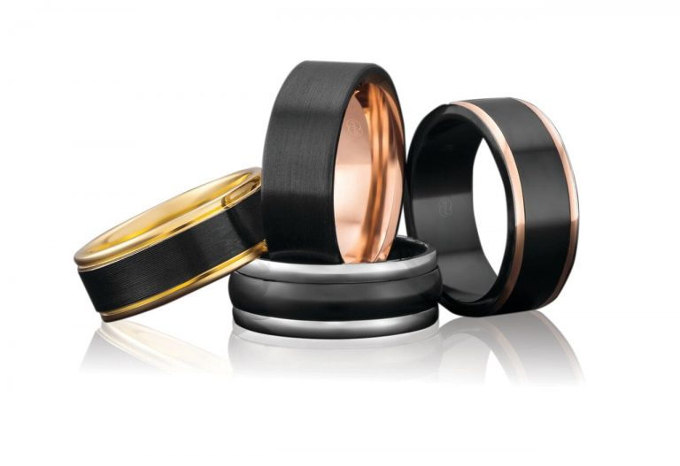 Zirconium wedding rings