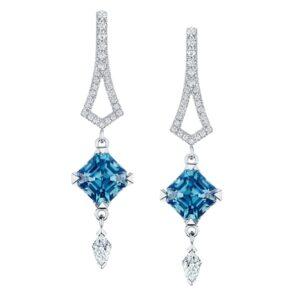 Mystique Blue Earrings