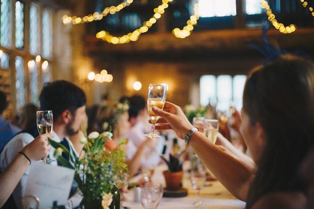 Table at summer wedding