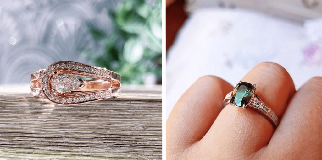 unique shape engagement rings