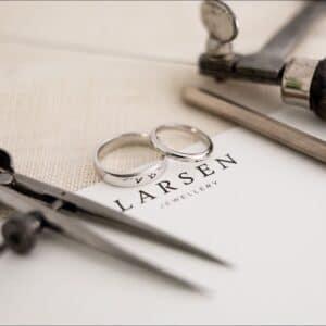Custom Made Classic Platinum Wedding Rings