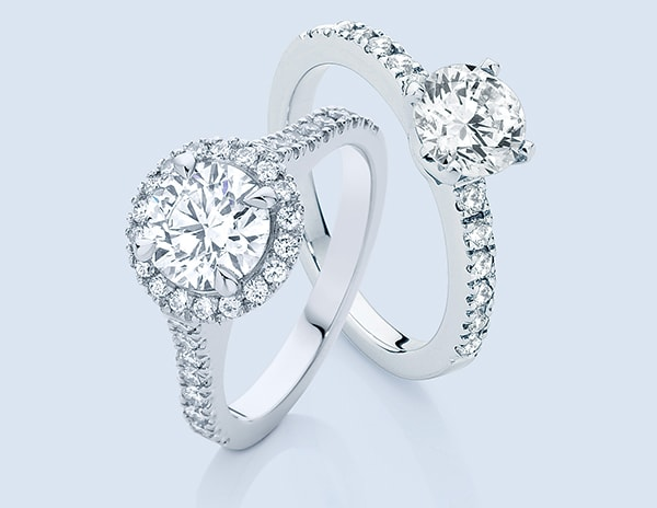 classical diamond engagement rings