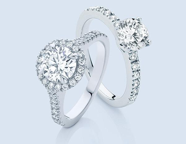 classical diamond engagement rings