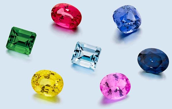 coloured gemstones larsen jewellery