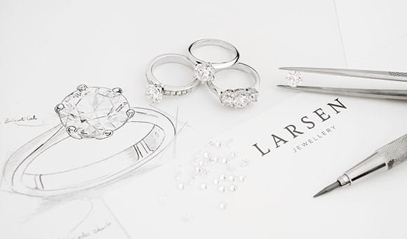Bespoke engagement rings made in Sydney