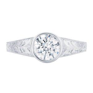 Empress White Gold Engagement Ring