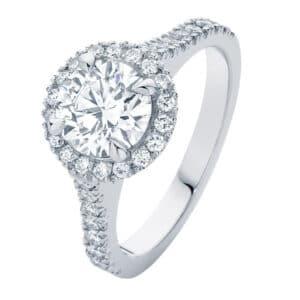 Rosetta Brilliant Platinum Engagement Ring