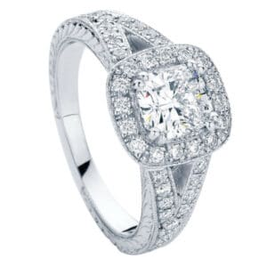 Victoria White Gold Engagement Ring