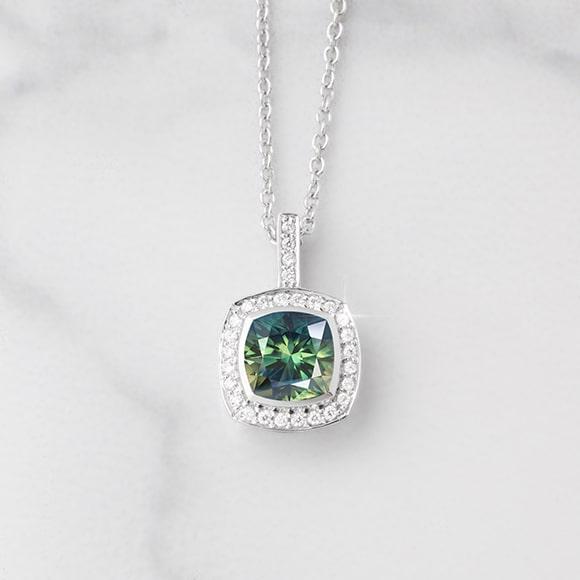 A rare australian parti Sapphire and diamond pendant