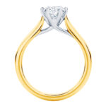 Pirouette Yellow Gold solitaire engagement ring