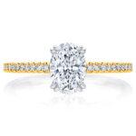Yellow gold Aurelia engagement ring