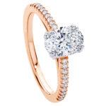 Rose gold aurelia engagement ring