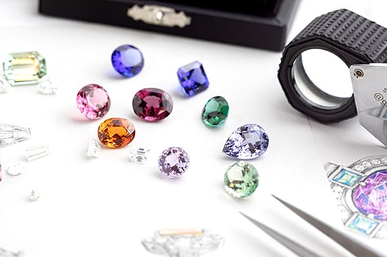 An array of exceptional quality gemstones that have been sourced ethically