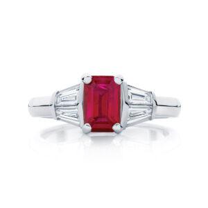 Emerald Other Engagement Ring Platinum   Affection