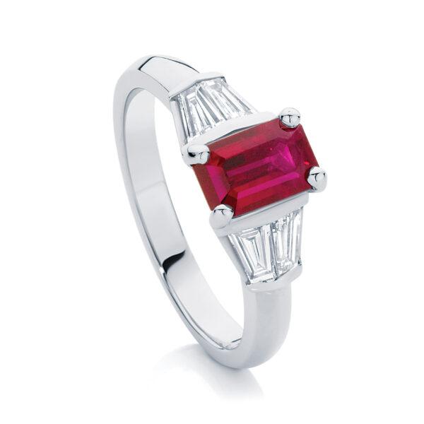 Emerald Other Engagement Ring Platinum | Affection