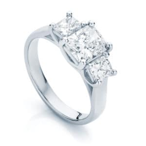 Radiant Three Stone Engagement Ring White Gold | Allure