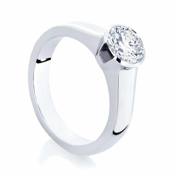 Round Solitaire Engagement Ring Platinum | Angel