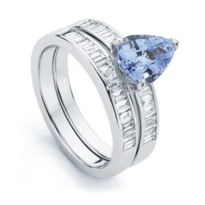 Pear Side Stones Engagement Ring White Gold | Azure