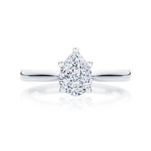 Pear Solitaire Engagement Ring Platinum   Ballerina (Pear)