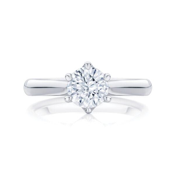 Round Solitaire Engagement Ring Platinum | Ballerina
