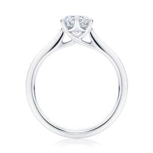 Round Solitaire Engagement Ring Platinum   Ballerina