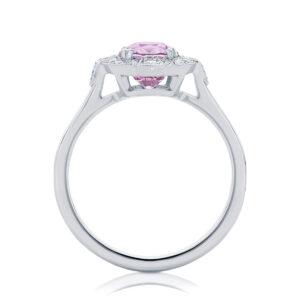Oval Halo Engagement Ring Platinum | Belle