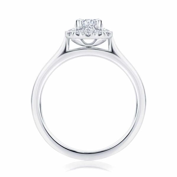 Oval Halo Engagement Ring Platinum | Bloom