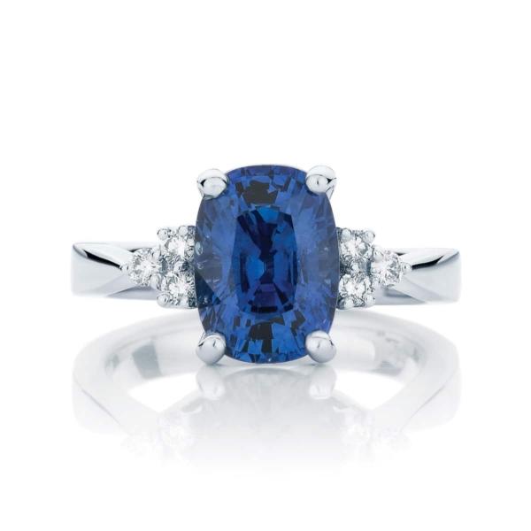 Cushion Other Engagement Ring Platinum   Cobalt