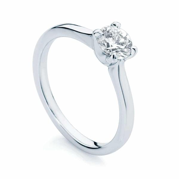 Round Solitaire Engagement Ring Platinum | Cupid