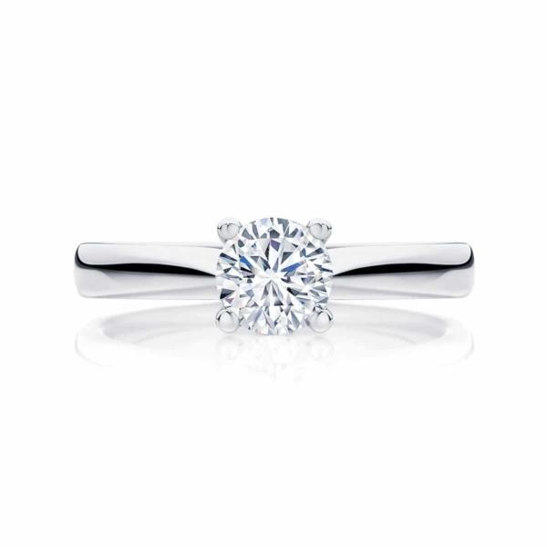 Round Solitaire Engagement Ring Platinum | Delta