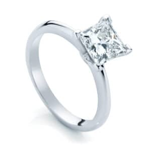 Princess Solitaire Engagement Ring White Gold | Eclipse